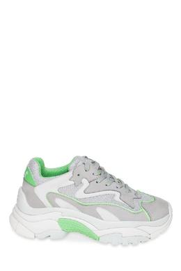 Зелено-бело-серебристые кроссовки Addict Bis Ash 6115851