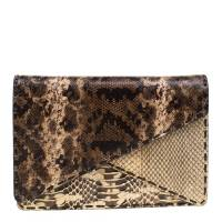 Bottega Veneta Brown Python Envelope Clutch 178321