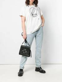R13 - футболка с графичным принтом и эффектом потертости W3889938906580000000