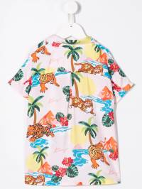 Kenzo Kids - рубашка с принтом тигра 06689365033500000000