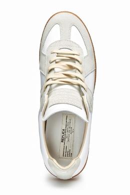 Белые кроссовки с коричневой подошвой Maison Margiela 1350116220