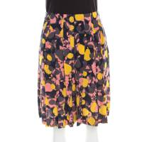 See By Chloe Multicolor Fruit Printed Silk Pleated Divided Skirt  S 181231