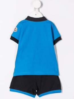 Moncler Kids - спортивный комплект из рубашки-поло и шортов 03568596F93863595000