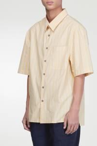 Желтая рубашка в полоску Lanvin 372118374