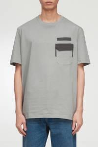 Серая футболка с карманом Lanvin 372118369