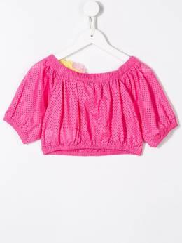 Monnalisa - укороченная блузка с декором 369F9399093883633000