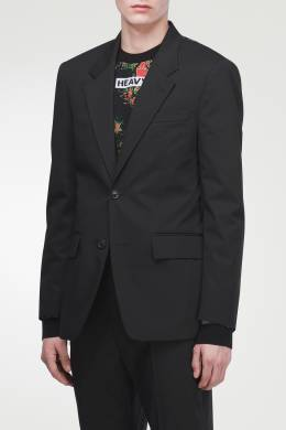 Черный однобортный пиджак Maison Margiela 1350118682