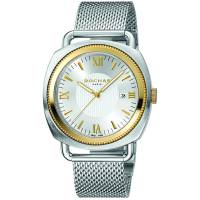 Rochas Silver Gold Plated Stainless Steel RP1G001M0081 Men's Wristwatch 42MM 179632