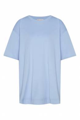 Голубая футболка оверсайз Marni 294118813