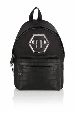 Черный рюкзак с логотипом Philipp Plein 1795119032