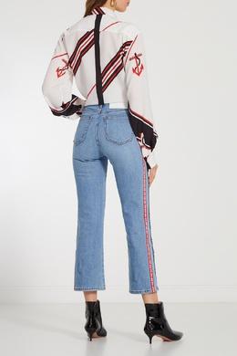 Укороченные джинсы с логотипами MSGM 296119474