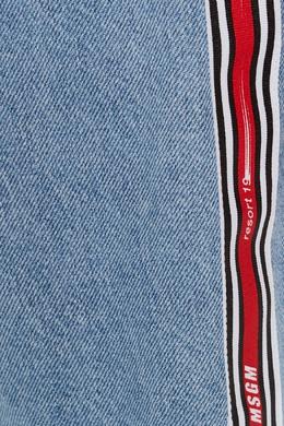 Джинсовые шорты с лампасами MSGM 296119473