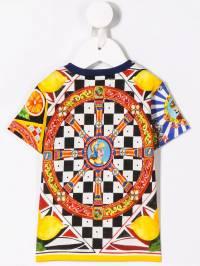Dolce & Gabbana Kids - футболка Carreto с принтом T3WG3SFB939603680000