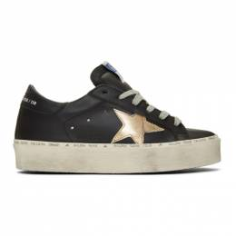Golden Goose Black and Gold Hi Star Sneakers 192264F12804708GB