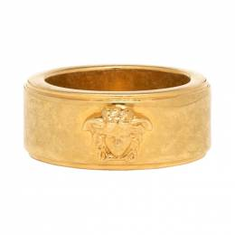 Versace Gold and Black Logo Ring DG57251 DJMS