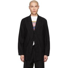 Yohji Yamamoto Black Twill Jacket 191573M18000903GB