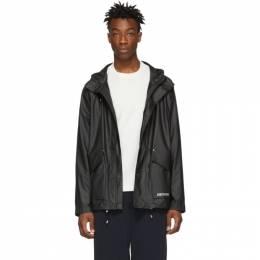 Stutterheim Black Stenhamra Lightweight Raincoat 191924M18000101GB