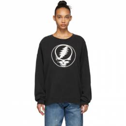 R13 Black Steal Your Face Sweatshirt 191021F09800603GB