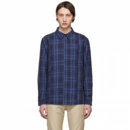 A.P.C. Blue and Navy Unconventional Over Shirt 191252M19200506GB