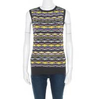M Missoni Multicolor Patterned Jacquard Knot Sleeveless Top S 184436