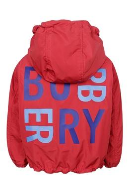 Двухсторонняя куртка с надписями Burberry Kids 1253120886