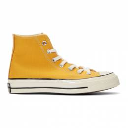 Converse Yellow Chuck 70 High Sneakers 192799M23601112GB