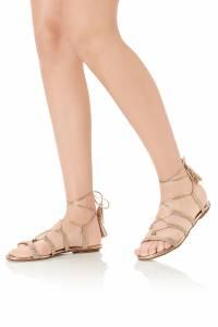 Золотистые сандалии Stromboli со шнуровкой Aquazzura 975122396