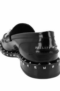 Черные лоферы с шипами Philipp Plein 1795122275