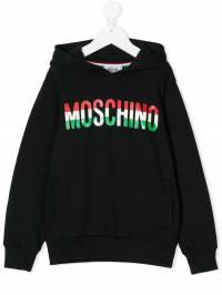 Moschino Kids - logo printed hoodie 60GLCA63936586600000