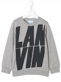Lanvin Enfant - logo print sweatshirt 636JX566930568690000