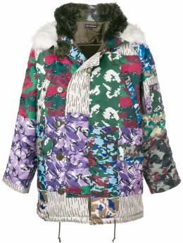 Gosha Rubchinskiy - камуфляжное дутое пальто 3C060930806550000000