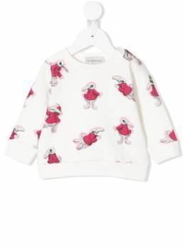Moncler Kids свитер с принтом кролика 806820580996