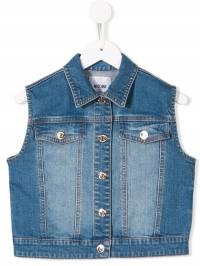 Moschino Kids - приталенный джинсовый жилет 60CLXE96935596590000
