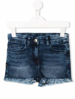 Monnalisa - джинсовые шорты с необработанным краем 568R3369093583590000