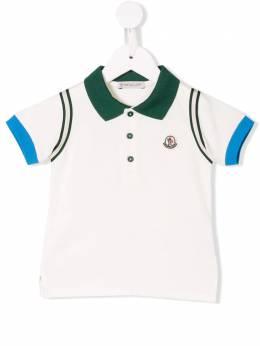 Moncler Kids - рубашка-поло с контрастной отделкой 99568596F93595686000
