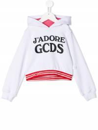 Gcds Kids - толстовка с капюшоном и принтом логотипа 55993695553000000000