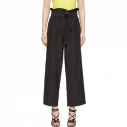 3.1 Phillip Lim Black Cropped Paperbag Trousers 192283F08700105GB