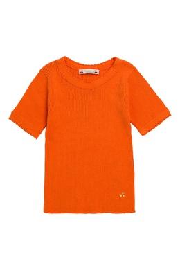 Оранжевый джемпер с короткими рукавами Bonpoint 1210122581