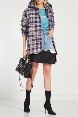 Короткая комбинированная юбка Unravel Project 2852122424