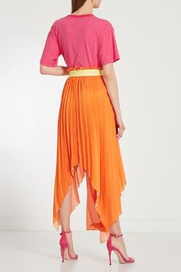 Розовая футболка с эффектом поношенности Unravel Project 2852122419
