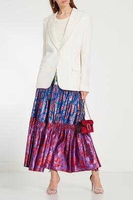 Ярусная юбка с цветочным мотивом Gucci 470122440