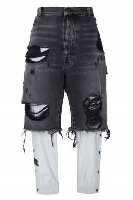Двухслойные комбинированные брюки Unravel Project 2852123236
