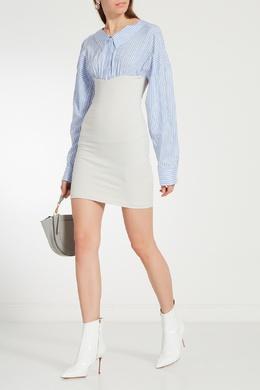 Комбинированное платье из шелка и хлопка Unravel Project 2852123239