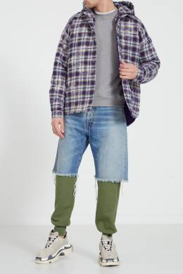 Комбинированные хлопковые брюки Unravel Project 2852123228
