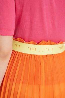 Асимметричная оранжевая юбка плиссе Unravel Project 2852123245