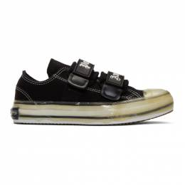 Palm Angels Black Velcro Vulcanized Sneakers 192695F12800201GB