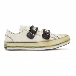 Palm Angels White Velcro Vulcanized Sneakers 192695M23700108GB