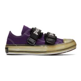 Palm Angels Purple Velcro Vulcanized Sneakers 192695F12800301GB