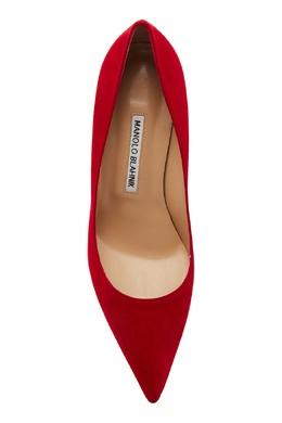Красные замшевые туфли BB Manolo Blahnik 166124111