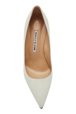 Белые туфли BB из кожи Manolo Blahnik 166124064